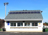 Solar Panels on Acton Boxborough hot dog stand